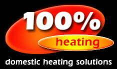 100 Percent Heating logo, heating and boiler engineer Bristol